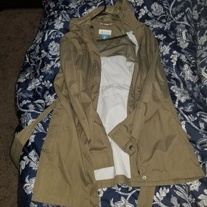 Columbia Trench Coat Style Rain Jacket